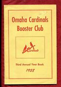 1958 Omaha Cardinals Year Book Program Bob Gibson Rookie Schedule With Flyer