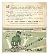 1919 Wwi Bring The Boys Home Baseball Schedule Black Sox Year