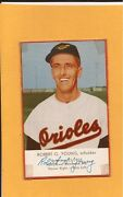 1955 Esskay Meats Weiners Robert Young Baltimore Orioles Hot Dogs Orange Borders
