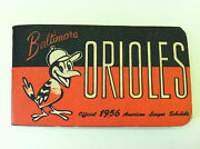 1956 Baltimore Orioles Spalding Pocket Schedule Booklet Tough 3rd Year