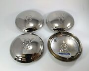 Set Of 4 V8 Logo Hubcaps For 1934 Ford Car Pickup Truck One / Single Ring