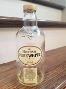 Collectable Rare Hennessy Pure White Cognac Bottle Empty