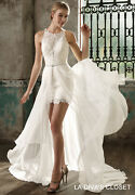 Formal Mini Wedding Dress With Datachable Train, Delivery In About 28 Days.