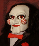 Haunted Ventriloquist Doll Eyes Follow You Puppet Dummy Creepy Scary Clown Saw