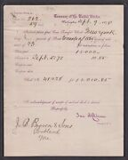 Dept Of Treasury Civil War Bond Redemption Scarce 1878 Letter To Jb Brown And Sons