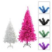 Pvc Artificial Christmas Tree Unlit Multiple Colors Sizes Xmas Holiday W Stand