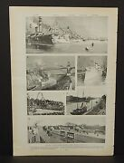 Harper's Weekly Single Pg. Opening Kaiser Wilhelm Canal At Kiel  C1890s A676
