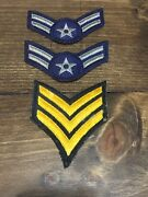 Lot Of U.s. Military Unit Rank Insignias Patches Army Navy Sow On