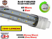 R17d 8 Feet 65w V Shaped Led Tube Light Fluorescent Replacement For F96t12/cw/ho