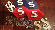 Vintage Salvation Army Blood And Fire Enamel/brass Collar Tabs Insignia Pin Badge