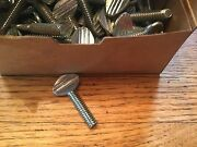 100 Thumb Screws 25-20 X 1 Zinc Plated, No Shoulder, Made In Usa