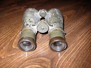 Wwi Spindler And Hoyer German Officer Field Glasses Binoculars With Leather Case
