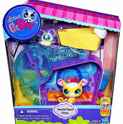 Littlest Pet Shop Sweetie Mouse With Hamster Friend Cozy Condo House Lps Playset
