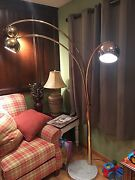 Goffredo Reggiani Arc Brass Floor Lamp With Marble Bottom , Made In Italy