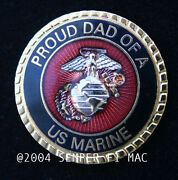 Proud Dad Of A Us Marine Hat Pin Marines Son Daughter Wm Graduation Boot 1847