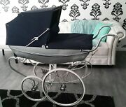 Antique 1968 Wilson Silver Shadow By Silver Cross Baby Carriage Pram Stroller