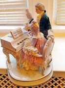 Dresden Porcelain Lace Figurine Musical Group Very Rare