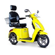 Ewheels Fast Ew-36 Mobility Scooter Electric 3 Wheel Cart Yellow