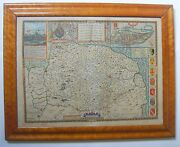 Norfolk Antique Map By John Speed 1611 1627 Edition