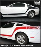 Ford Mustang Rocker To Rear Quarter Side Stripes Decals 2010 2011 2012 2013 2014