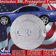1999-2004 Ford Mustang Triple Chrome Abs Gas Door Cover Fuel Cap Overlay