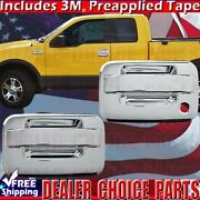 2004-2014 Ford F-150 F150 Std/ext Chrome 2 Door Handle Covers Overlays Trims