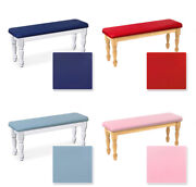 New White Or Natural Finish Wood Bench With A Colored Vinyl Seat Cushion Kitchen