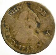 1783-jd Colonial Spain Silver 1/2 Real Mexico City Silver A48