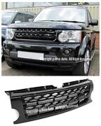 For 05-09 Land Rover Lr3 Discovery Lr4 Style Front Bumper Glossy Black Grille