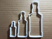 Whiskey Bottle Beer Drink Shape Cookie Cutter Dough Biscuit Pastry Fondant Sharp