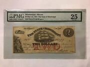 Us Pmg. Mississippi 2 Dollar May 1 St 1864 Mscr43 S/n 23199 Ppa 25 Very Fine