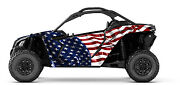 Can Am Maverick X3 American Flag Decal Graphic Kit Wraps Deco Sticker