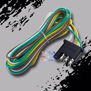 2pcs 4-pin Plug Trailer Light Wiring Harness Extension Flat Wire Connector 16
