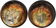 1951-s Pcgs Ms68 High Grade Toned Roosevelt Dime 10c Excellent Example Top Pop