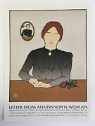 David Goines 68 Letter From An Unknown Woman Signed And Numbered 88/300 1977