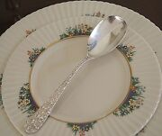 Stieff Rose Sterling Silver Rose Repousse Berry Serving Spoon