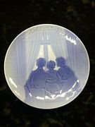 Bing And Grondahl /bandg 1903 Christmas Plate Happy Expectations Free Sandh
