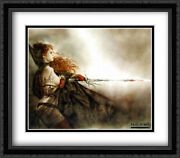 Red Sonja 2x Matted 32x28 Large Black Ornate Framed Art Print By Royo, Luis