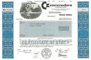 Commodore International Early Home Computer Commodore 64 Stock Certificate