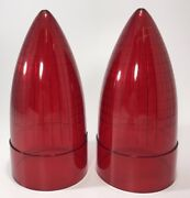 Pair 2 Red Tail Light Replacement Lens For 1959 Cadillac