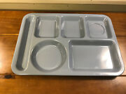 2 Blue Vintage Texas Ware 146 Divided Tray Cafeteria Melamine