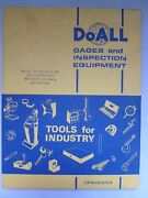 Doall Gages And Inspection Equipment Catalog G75-8 Mechanical-electrical-optical