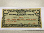 1st Nat. Bank Plaza N.d. Northwestern Bankers And Merchants Check Company 1 Cent
