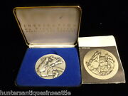 1974 Frank Eliscue .999 Fine Silver Inspiration Americaand039s First 2-part Medal