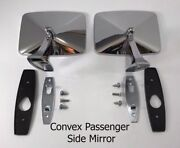 Pair Driver And Convex Passenger Side Rear View Mirrors For 1973-1987 Chevy Truck