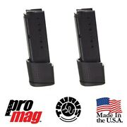 2x Pack Promag Tau22 Extended 9mm 10rd Blue Steel Mag For Taurus 709 Pt709 Slim