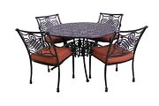 Dynasty Collection Outdoor 4 Dining Chairs And Dynasty 48andprime Round Table 5 Pc Set
