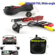 Car Suv Rear Side Front Mirror 170anddeg 600tvl Ccd Front Backup Parking Hole Cameras