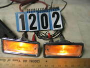 1963 Oldsmobile Pair Front Parking/signal Lights With Lenses And Brackets 1202