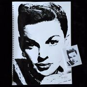 Judy Garland Ink Sketch Painting - Black And White - A2 Size
